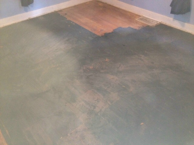 a damaged hardwood floor in north jersey