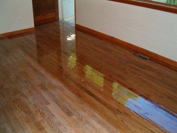 Before and after hardwood floor resurfacing in Trenton, NJ