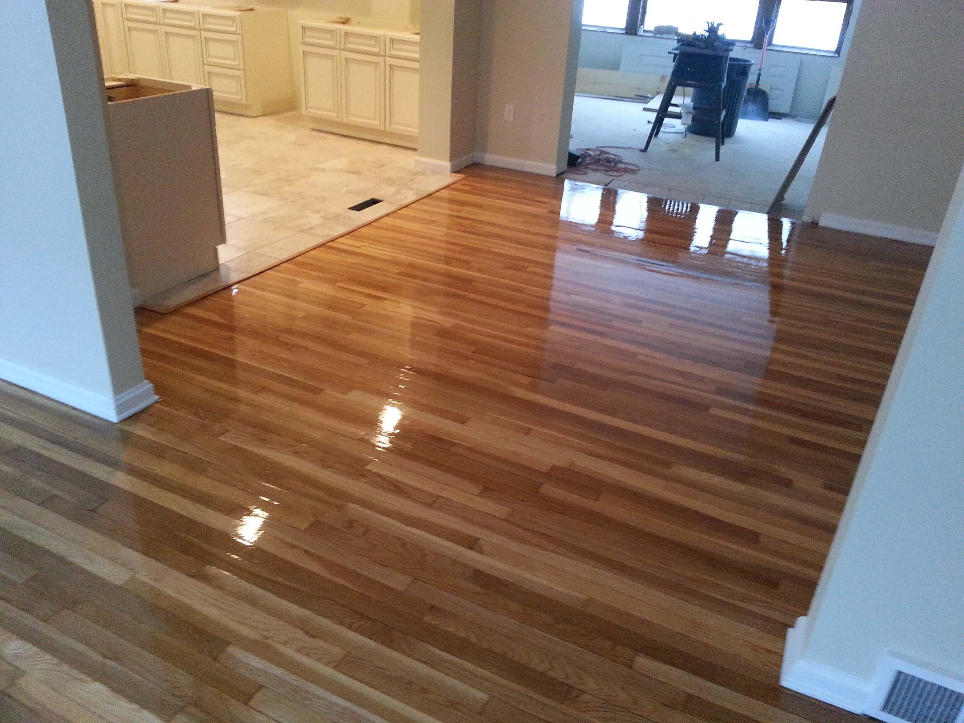 Trenton before and after hardwood floor resurfacing