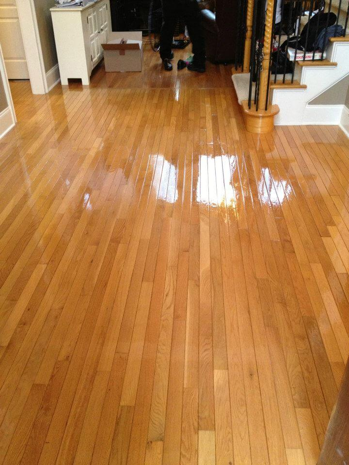A resurfaced hardwood floor in the trenton, nj area