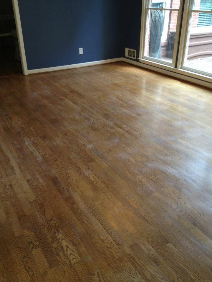a damaged hardwood floor in newark, nj