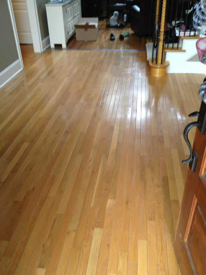 a lightly damaged hardwood floor in south jersey