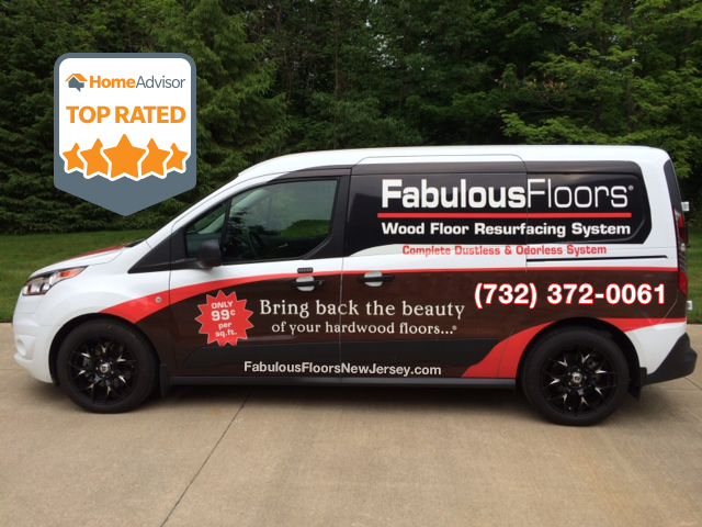 The Fabulous Floors New Jersey van parked outside of our newark office