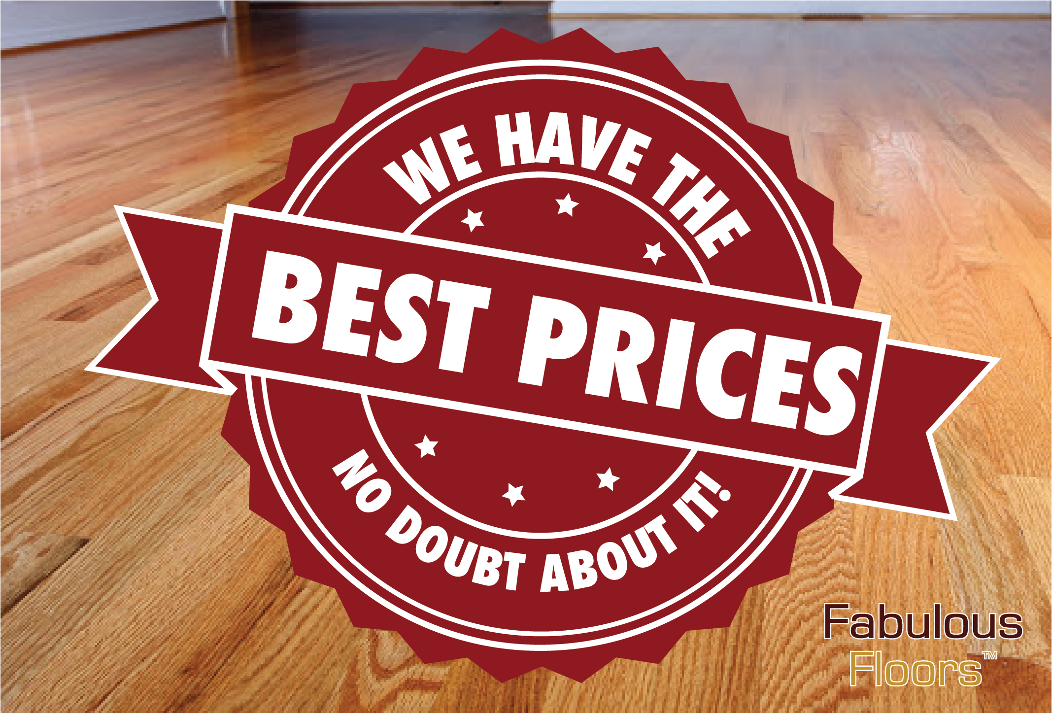 A graphic showing that we have the best prices around